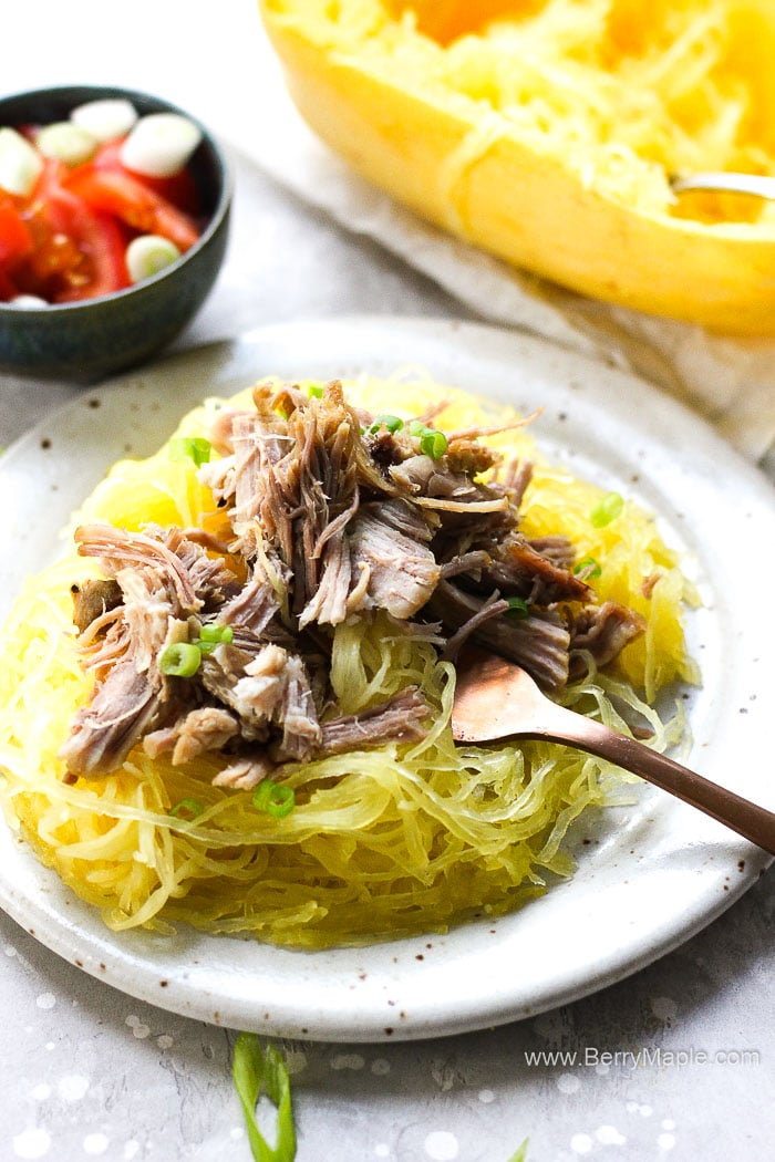 Instant Pot Spaghetti squash with pulled pork