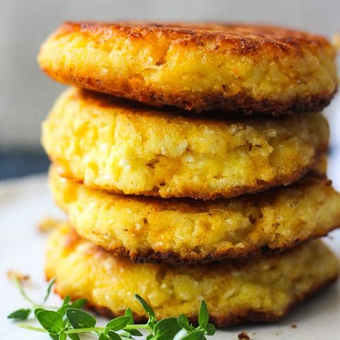 cauliwlower pancakes stack