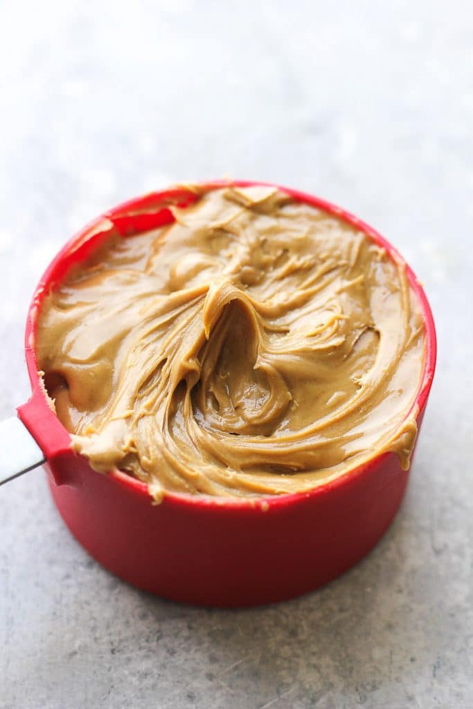 a cup of peanut butter