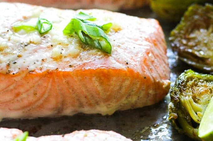 keto salmon sheet pan