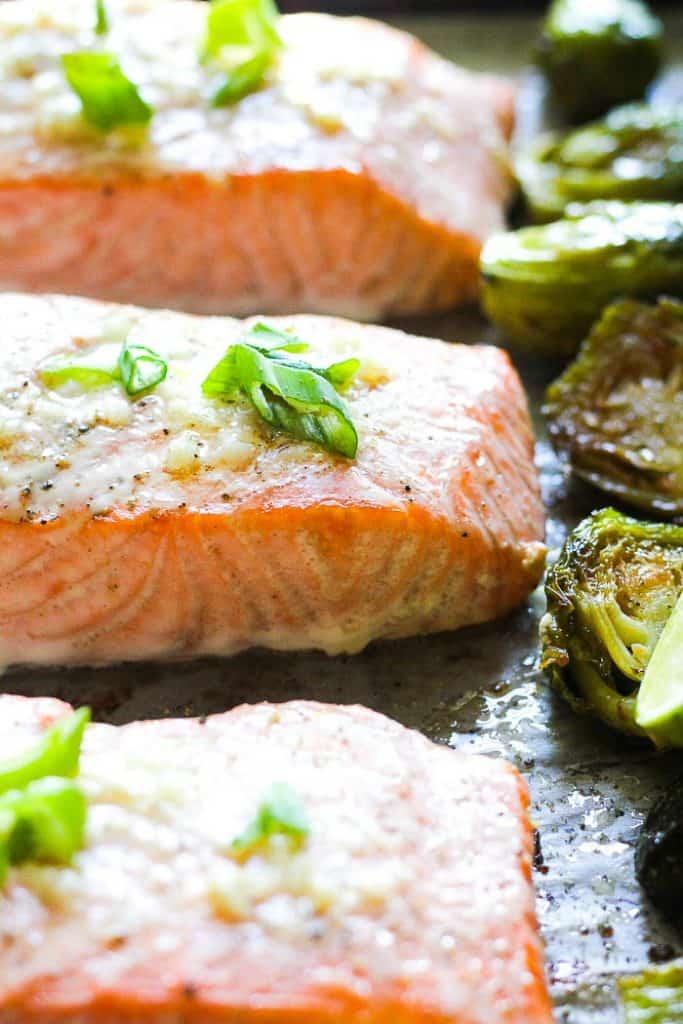 keto salmon sheet pan