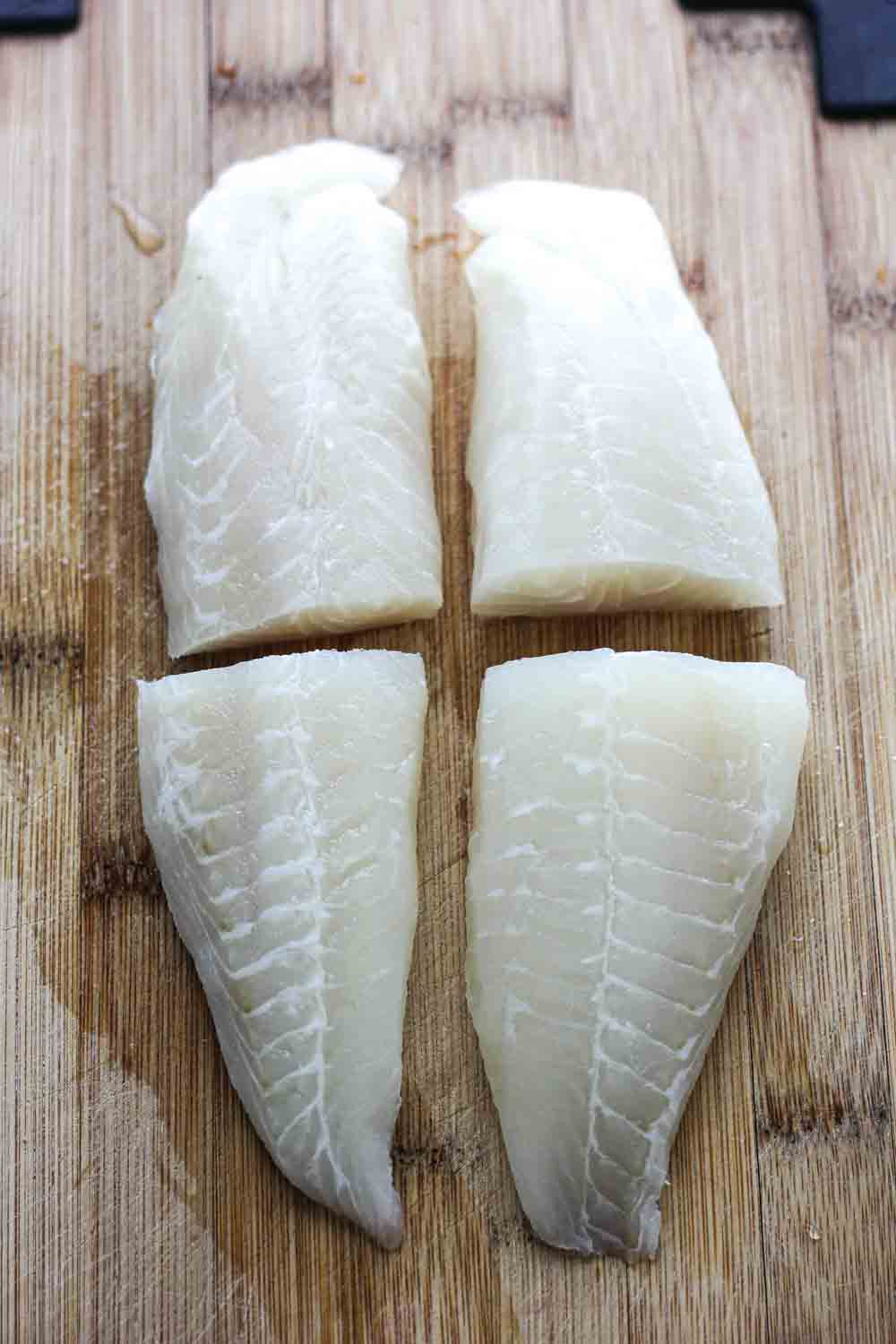 raw tilapia pieces