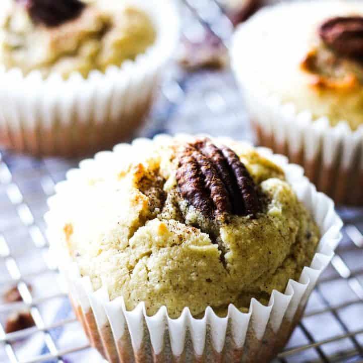 Low carb Keto cinnamon pecan muffins