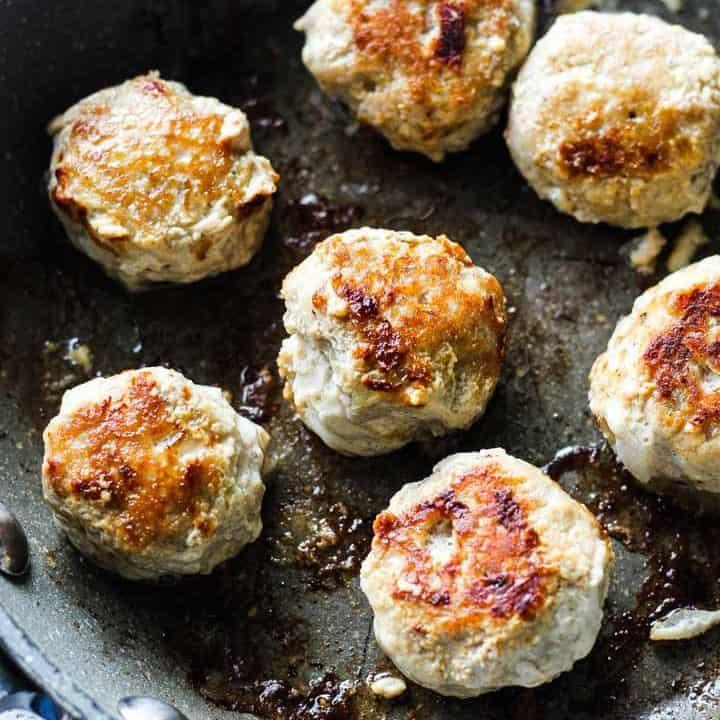 Keto low carb turkey meatballs with almond flour