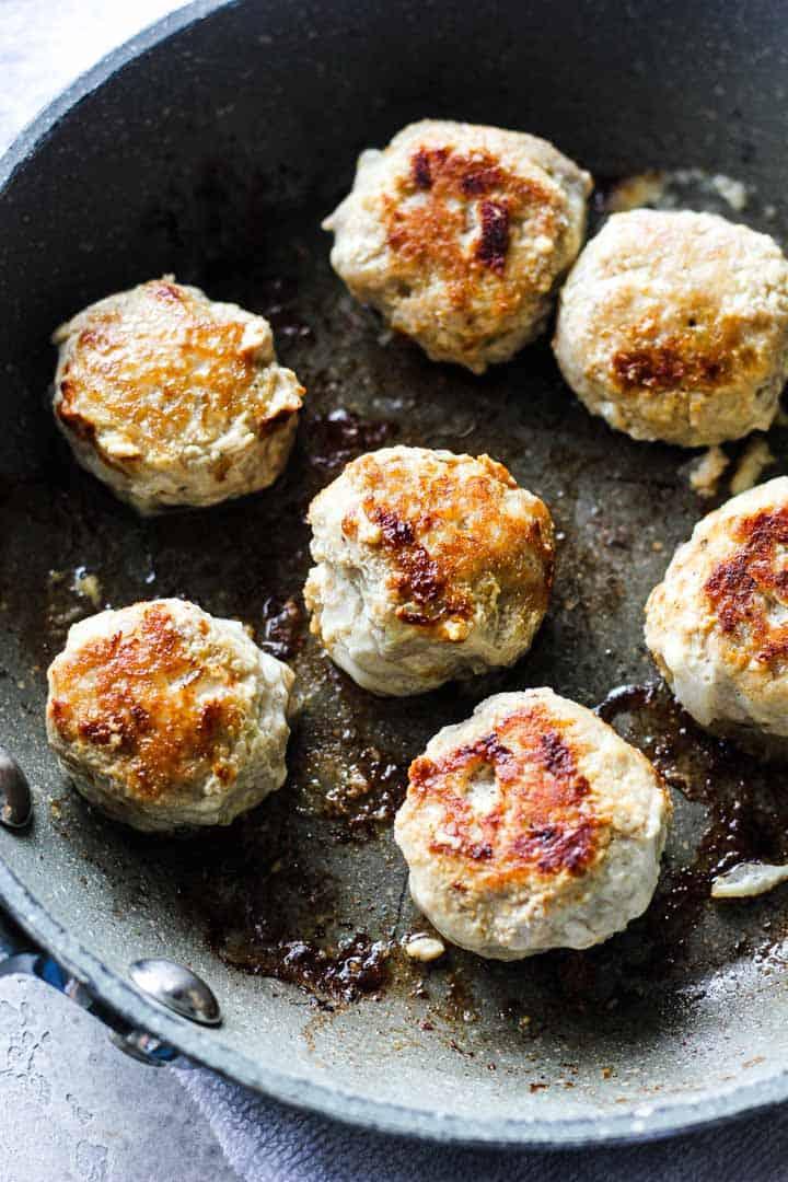 almond flour turkey meatballs
