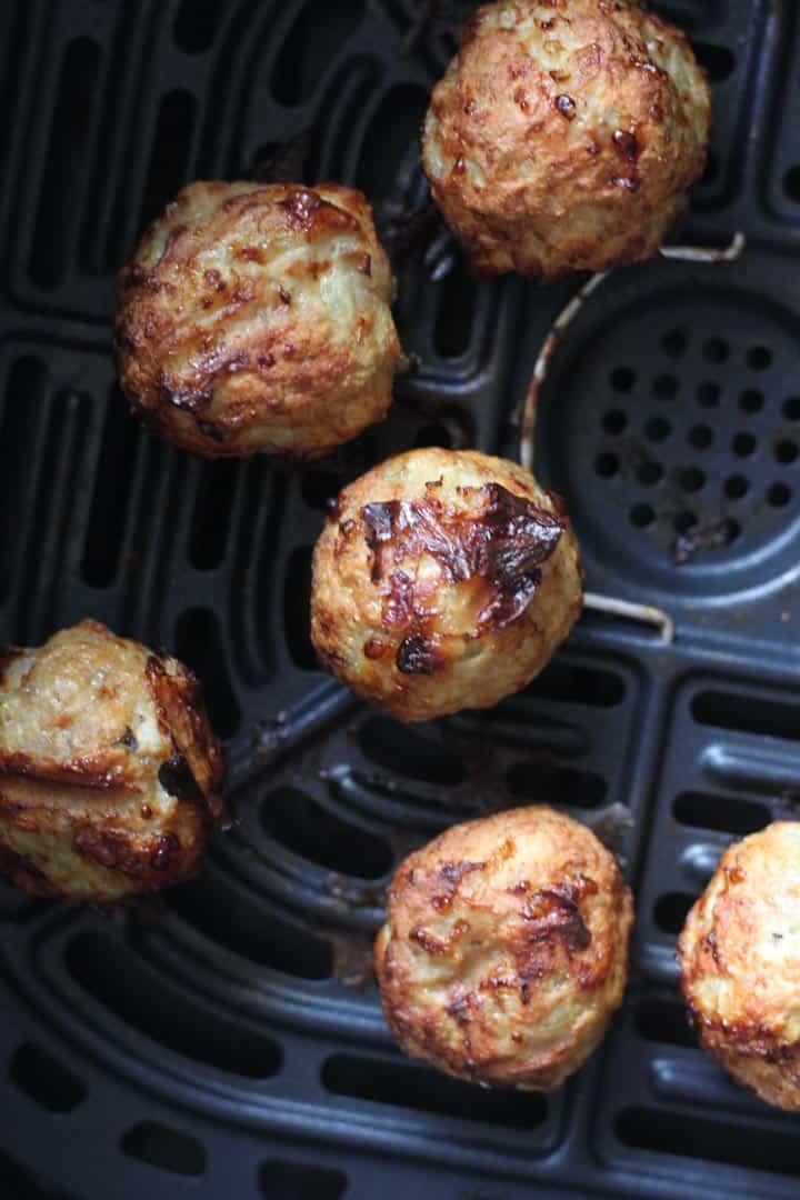 keto air fryer turkey meatballs