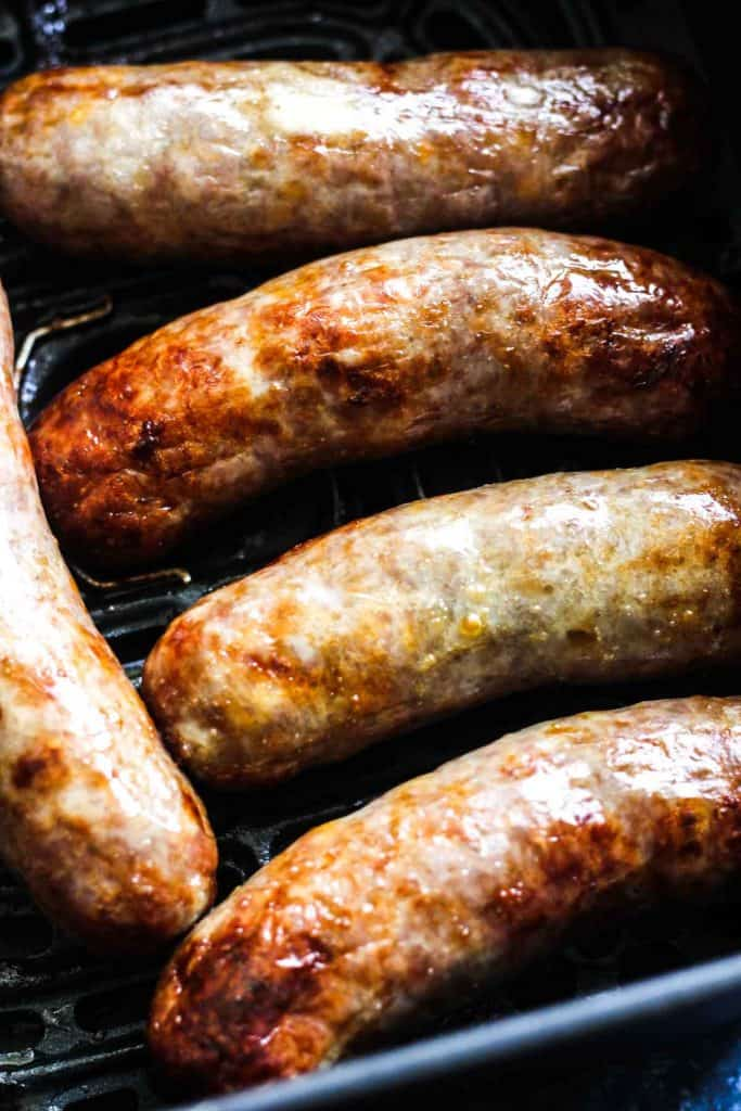 air fry brats smoked sausage