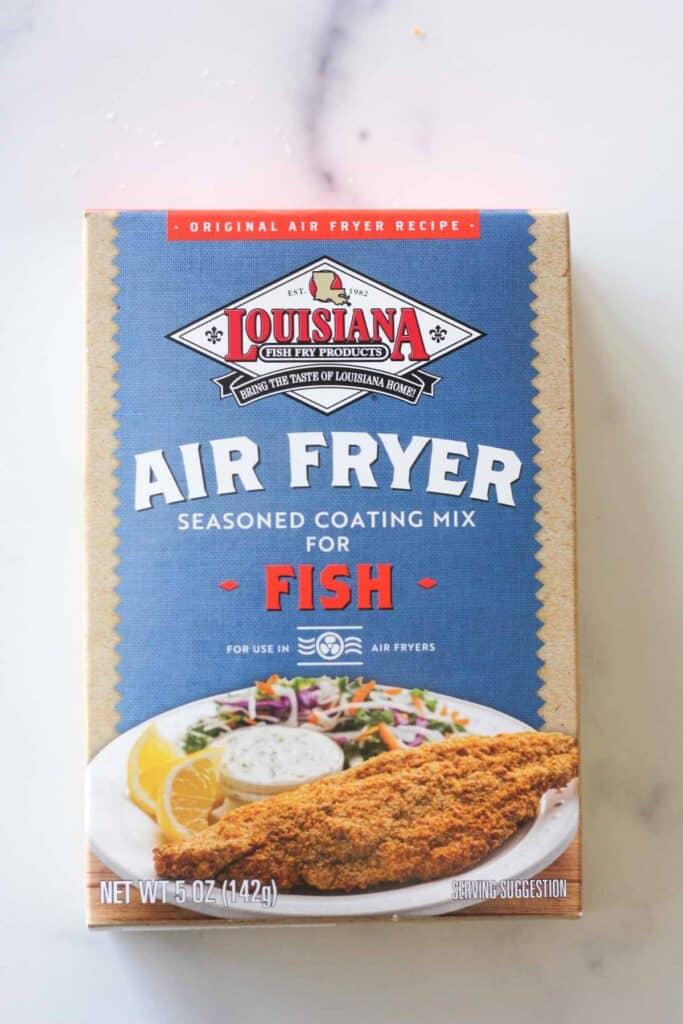 box of air fryer seasoned fish fry mix