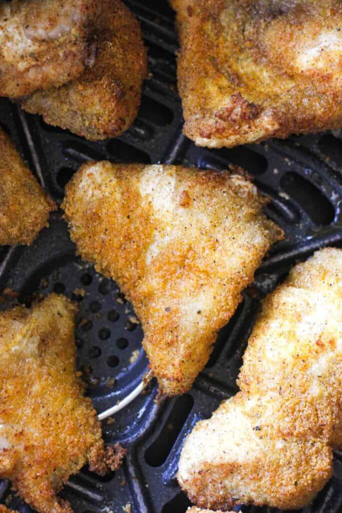 cooked fish nuggets in air fryer