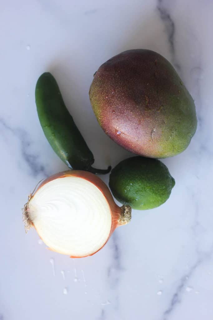 ingredients for mango salsa