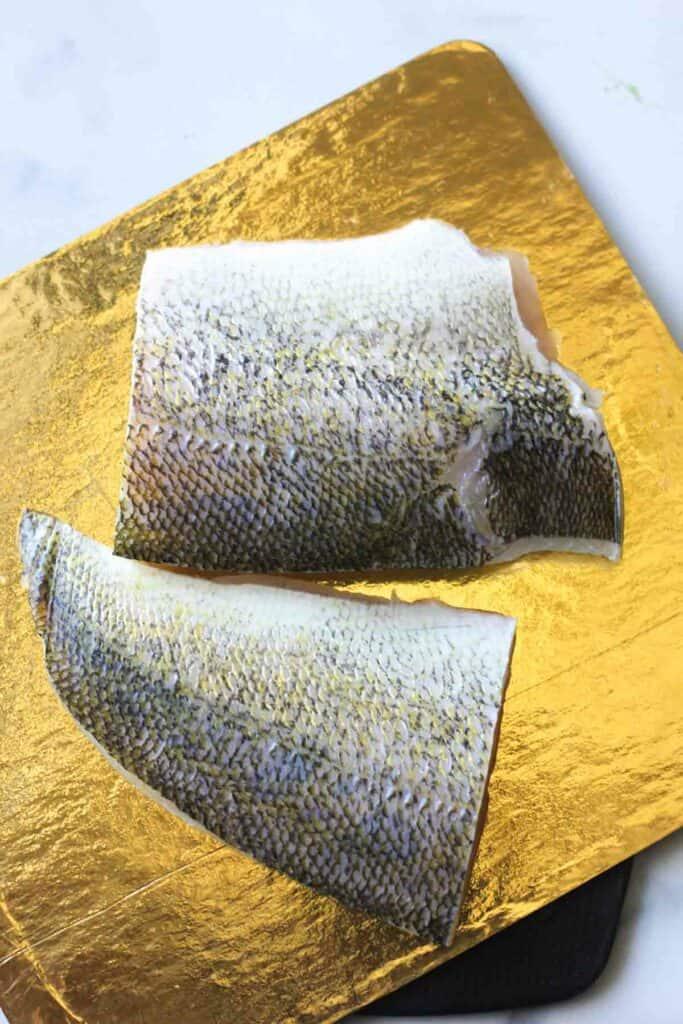 raw walleye fillets