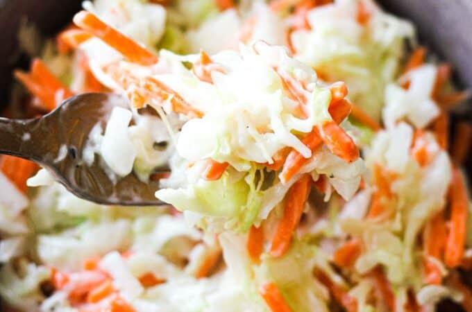 kfc coleslow on a fork