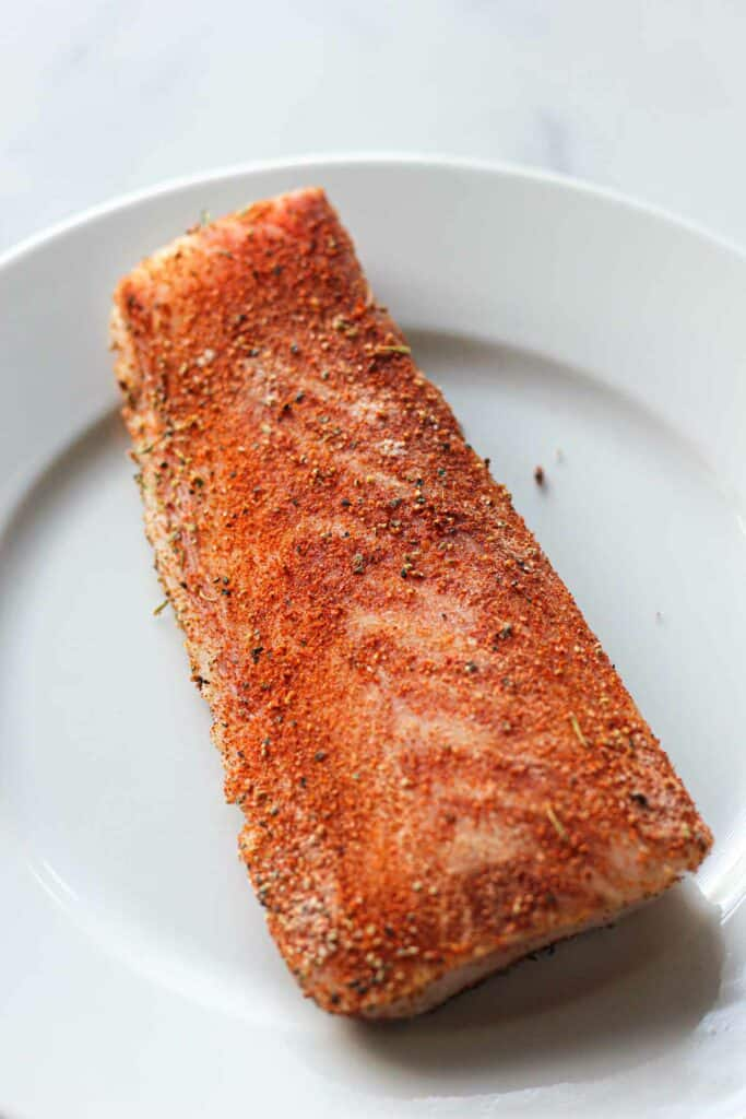 seasoned fish with blackening spices