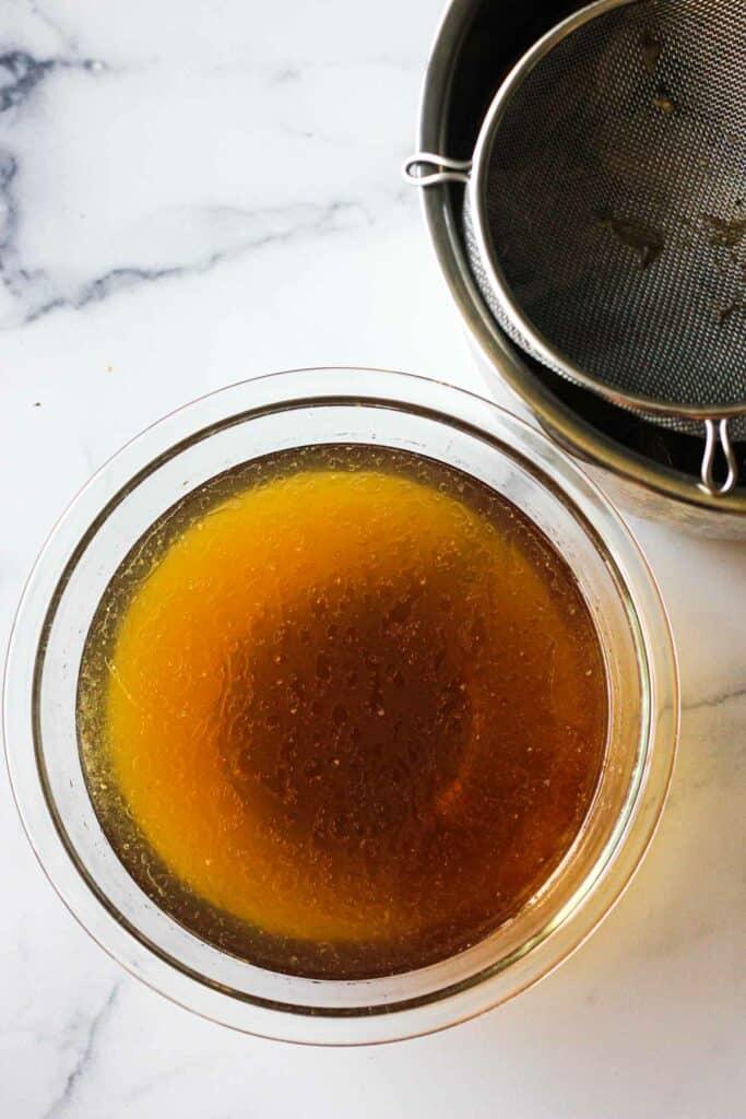 instant pot bone broth in a bowl