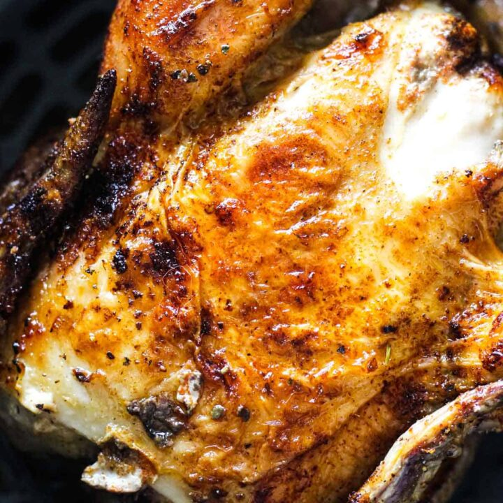 game hen with brown crispy skin