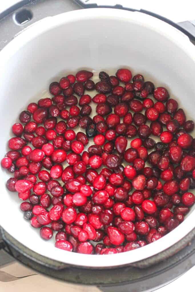 raw frozen cranberries before cooking