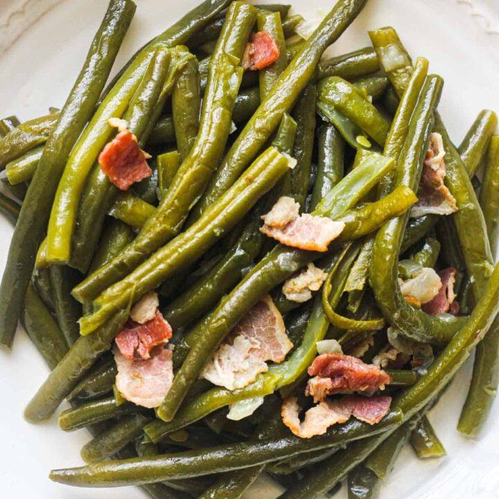 ninja foodi green beans with bacon and onions