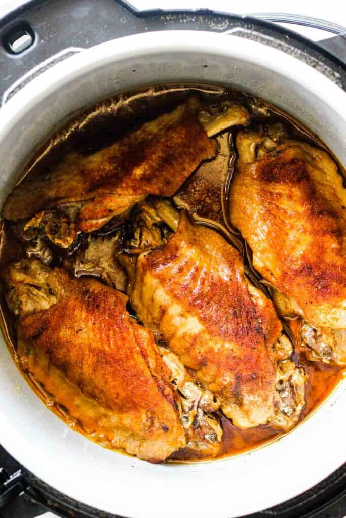 turkey wings in instant pot browned and cooked