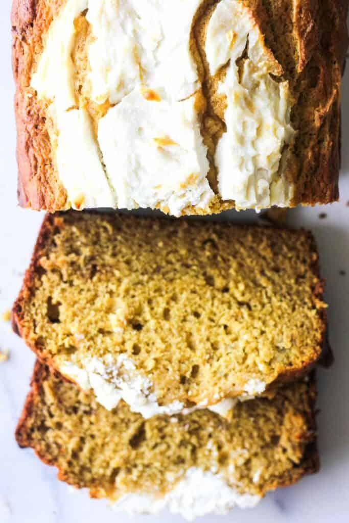 pumpkin ricotta bread slices